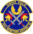 STICKER USAF 704th Munitions Support Squadron Emblem