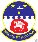 STICKER USAF 700TH AIRLIFT SQUADRON