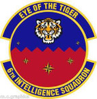 STICKER USAF 6th Intelligence Squadron
