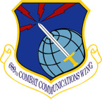 STICKER USAF 689TH COMBAT COMMUNICATIONS WING