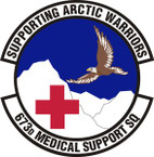 STICKER USAF 673rd Medical Support Squadron Emblem