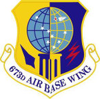 STICKER USAF 673rd Air Base Wing