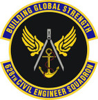 STICKER USAF 628th Civil Engineer Squadron Emblem