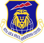 STICKER USAF 617th Air and Space Operations Center Emblem