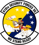STICKER USAF 610TH SECURITY FORCES SQUADRON