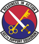 STICKER USAF 607th Support Squadron Emblem