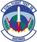 STICKER USAF 576th Flight Test Squadron Emblem