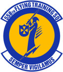 STICKER USAF 558TH FLYING TRAINING SQUADRON