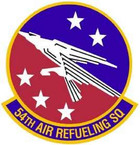 STICKER USAF 54th Air Refuling Squadron