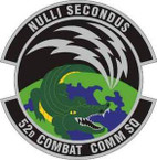 STICKER USAF 52nd Combat Communications Squadron Emblem