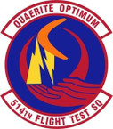 STICKER USAF 514th Flight Test Squadron Emblem