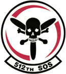 STICKER USAF 512th Special Operations Squadron Emblem