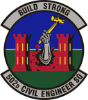STICKER USAF 502nd Civil Engineer Squadron Emblem