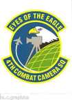 STICKER USAF 4TH COMBAT CAMERA SQUADRON
