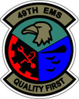 STICKER USAF 49TH EMS