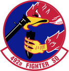 STICKER USAF 492ND FIGHTER SQUADRON
