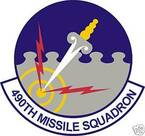 STICKER USAF 490TH MISSILE SQUADRON