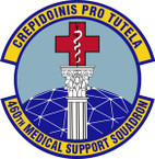 STICKER USAF 460th Medical Support Squadron Emblem