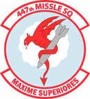 STICKER USAF 447th Missile Squadron