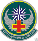 STICKER USAF 446TH AEROMED EVAC SQUADRON