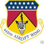 STICKER USAF 445TH AIRLIFT WING