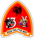 STICKER USAF 432ND TACTICAL FIGHTER WING