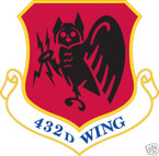 STICKER USAF 432ND FIGHTER WING