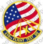 STICKER USAF 410TH FLIGHT TEST SQUADRON