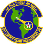 STICKER USAF 401st Supply Chain Management Squadron Emblem