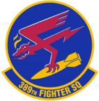 STICKER USAF 389TH FIGHTER SQUADRON