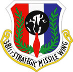 STICKER USAF 381ST STRATEGIC MISSILE WING