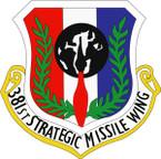 STICKER USAF 381ST STRATEGIC MISSILE WING
