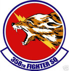 STICKER USAF 358TH FIGHTER SQUADRON DECAL