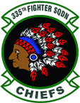 STICKER USAF 355TH FIGHTER SQUADRON B