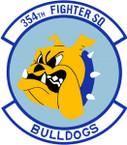 STICKER USAF 354TH FIGHTER SQUADRON