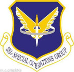 STICKER USAF 352nd Special Operations Group Emblem