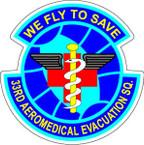 STICKER USAF 33RD AEROMEDICAL EVAC SQUADRON