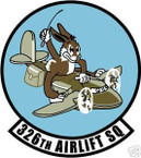 STICKER USAF 326TH AIRLIFT SQUADRON DECALb