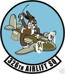 STICKER USAF 326TH AIRLIFT SQUADRON DECAL