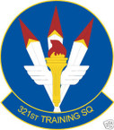 STICKER USAF 321ST TRAINING SQUADRON