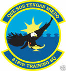 STICKER USAF 318TH TRAINING SQUADRON
