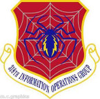 STICKER USAF 318th Information Operations Group Emblem