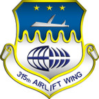 STICKER USAF 315TH AIRLIFT WING B