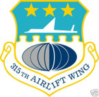 STICKER USAF 315TH AIRLIFT WING