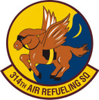 STICKER USAF 314TH AIR REFUELING SQUADRON B
