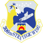 STICKER USAF 306TH STRATEGIC WING
