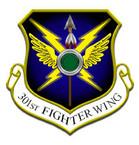 STICKER USAF 301st FIGHTER WING