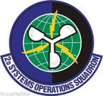 STICKER USAF 2nd Systems Operations Squadron Emblem