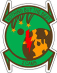 STICKER USAF 2ND CAMS CAMO
