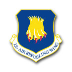 STICKER USAF 22ND AIR REFUELING WING